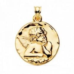 Medalla oro 18k Angelito 35mm. brillo lisa [AC1043GR]