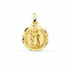 Medalla oro 18k Niño del Remedio 16mm. borde tallado redonda [AC1049]