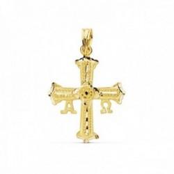 Colgante oro 18k Cruz de Covadonga 24mm. detalles [AC1053]
