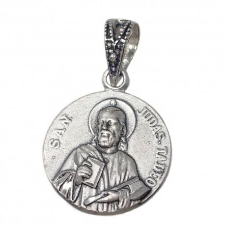 Medalla colgante plata ley 925m San Judas Tadeo 16mm. [AB2777]