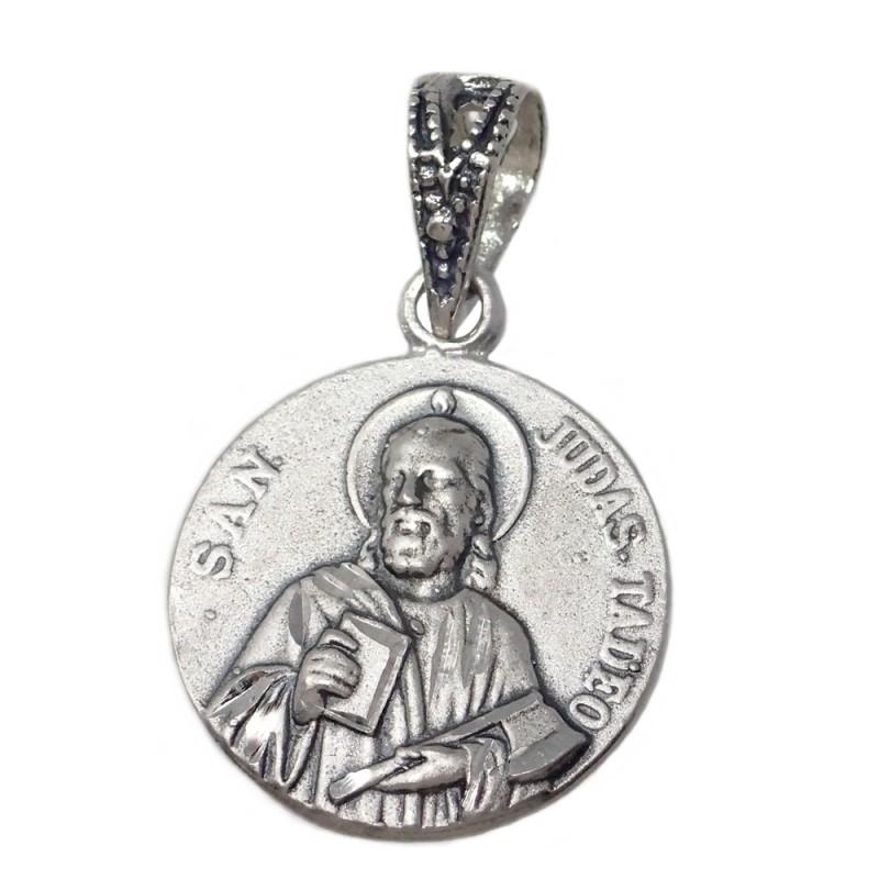 Medalla Colgante Plata Ley 925m San Judas Tadeo 16mm Ab2777gr