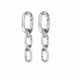 Pendientes Unode50 REMACHADOS metal chapado plata cadena PEN0516MTL0000U [AB9915]