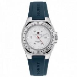 Reloj Tommy Hilfiger unisex Riverside azul blanco analógico 1780588
