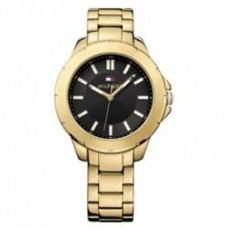 Reloj Tommy Hilfiger mujer dorado esfera negra 1781434 [AB9854]