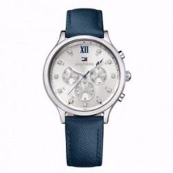 Reloj Tommy Hilfiger mujer piel azul multifunción 1781613 [AB9856]