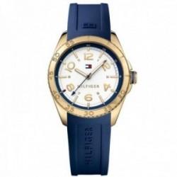 Reloj Tommy Hilfiger mujer azul dorado 1781637 [AB9857]