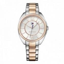 Reloj Tommy Hilfiger mujer bicolor elegante 1781696 rosado plateado acero inoxidable