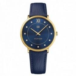 Reloj Tommy Hilfiger mujer piel azul dorado 1781807 [AB9864]