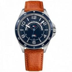 Reloj Tommy Hilfiger hombre piel marrón 1791391 analógico