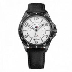 Reloj Tommy Hilfiger hombre piel negra 1791396 [AB9873]