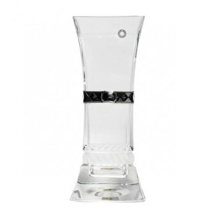 Florero cristal detalle plata [4234]