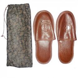 Zapatillas piel caballero [4556]