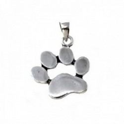 Colgante plata Ley 925m huella perro [AB9955]