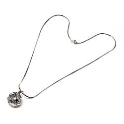 Llamador plata ley 925m de ángeles cerrado 14mm cadena 40cm. cola topo diamantada [AC0040]