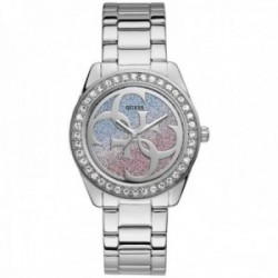 Reloj Guess mujer Watches Ladies G Twist W1201L1 plateado esfera colores rosa azul blanco