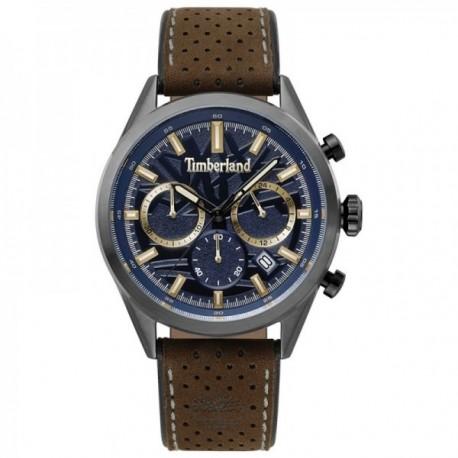 Reloj Timberland hombre Randolph Dark Blue Brown 15476JSU-03 correa piel marrón