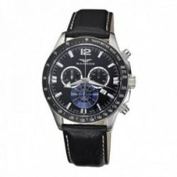Reloj Sandoz hombre esfera negra piel 72579-05