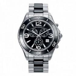 Reloj Sandoz hombre Le Chic acero inoxidable cerámica 86005-05 [AB9932]