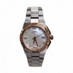Reloj Sandoz mujer Caractere 81266-90 plateado esfera nácar bisel diamantes