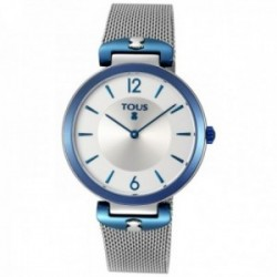 Reloj Tous mujer S-Mesh bicolor acero inoxidable IP azul plateado 800350830