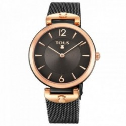 Reloj Tous mujer S-Mesh bicolor acero inoxidable IP rosado negro 700350300