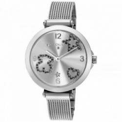 Reloj Tous mujer Icon Mesh acero inoxidable espinelas plateado 600350380