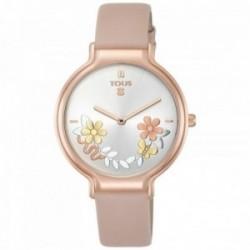 Reloj Tous mujer Real Mix acero inoxidable IP rosado correa piel nude 800350905