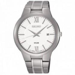 Reloj Seiko hombre solar clásico blanco plateado SNE385P1 [AB9940]