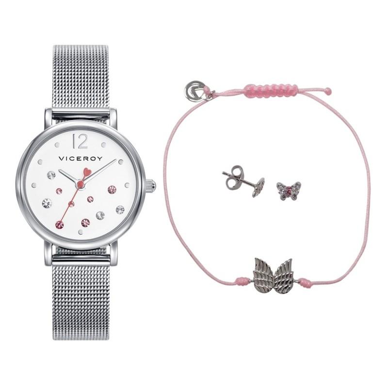 c29472d3666d Pack reloj Viceroy 401074-05 niña colección Sweet con pulsera ala  pendientes mariposa plata Ley. Loading zoom