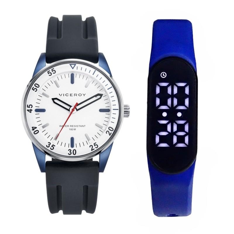 4073a9216465 Pack reloj Viceroy 46765-97 cadete colección Next con pulsera actividad  física SmartBand azul. Loading zoom
