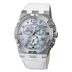 Reloj Sandoz mujer Caractere blanco esfera nácar bisel diamantes 81258-70 [AB9933]