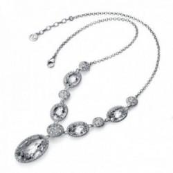 Gargantilla plata Ley 925m Viceroy medallones piedras blancas 1190C000-30 [AB9977]