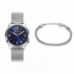 Pack reloj Viceroy cadete acero azul plateado pulsera eslabones plateada 401111-35 [AC1069]