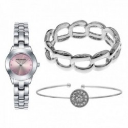 Pack reloj Mark Maddox 2 brazaletes mujer plateado  MF0008-77 [AC1075]