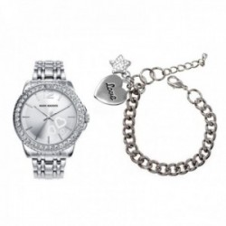 Pack reloj Mark Maddox pulsera charm mujer plateado MM6004-00 [AC1077]