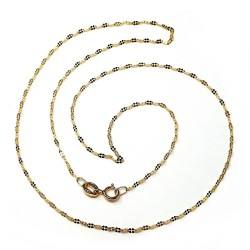 Cadena oro 18k mujer 45cm. brillo maciza [AA2421]