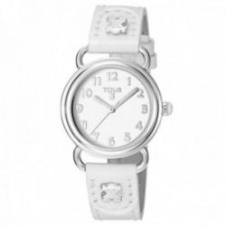 Reloj Tous niña Baby Bear acero inoxidable correa piel blanca 500350175