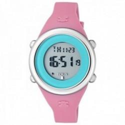 Reloj Tous niña Soft Digital correa silicona fucsia azul 800350615 [AC1092]