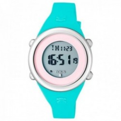 Reloj Tous niña Soft Digital acero inoxidable correa silicona menta rosa 800350620 [AC1093]