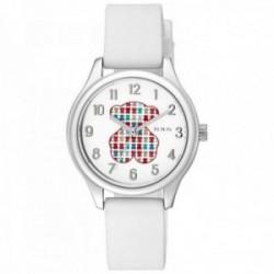 Reloj Tous niña Tartan Kids acero inoxidable correa silicona esfera oso colores 900350235