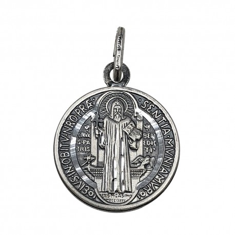e65663470739 Medalla plata Ley 925m San Benito 16.5mm. oxidada [AC1096]