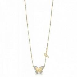 Gargantilla Guess Love Butterfly acero inoxidable quirúrgico 36cm. chapado oro UBN78025 [AC1140]