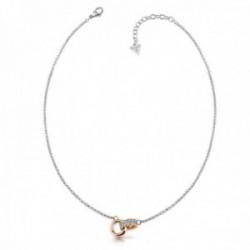 Gargantilla Guess Embrace acero inoxidable quirúrgico aros chapado oro rosa UBN78057 [AC1143]