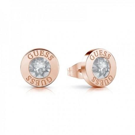 Pendientes Guess Shiny Crystals UBE78099 acero inoxidable quirúrgico chapados oro rosa