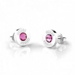 Pendientes Guess Shiny Crystals rosa acero inoxidable quirúrgico chapados rodio UBE78100