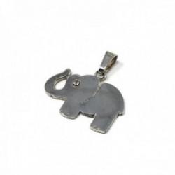 Colgante plata ley 925m elefante 23mm. liso circonita [AB5200]