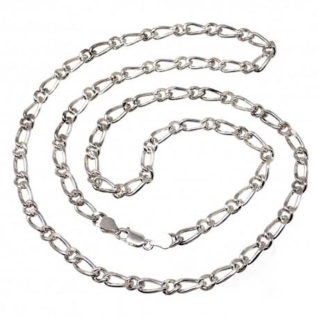 Cadena gargantilla plata 925m cartier 1x1 6mm. 80cm. [2141]