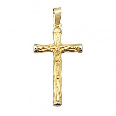 Cruz crucifijo oro 18k Cristo [4878]