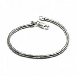 Pulsera plata Ley 925m cola topo 19.5cm. ancho 2.9mm. cierre mosquetón mujer [AC1171]