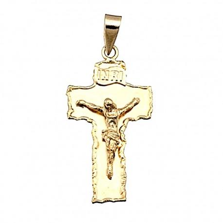 Cruz crucifijo oro 18k Cristo [4882]